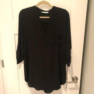 LUSH sheer black tunic/dress